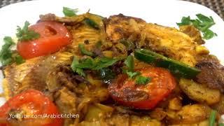 Fish with Potatoes in A Pan سمك مع البطاطا في المقلاة