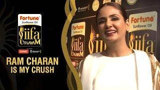 Ram Charan is my Crush says Parul Yadav   IIFA Utsavam Awards   Green Carpet   Telugu Filmnagar
