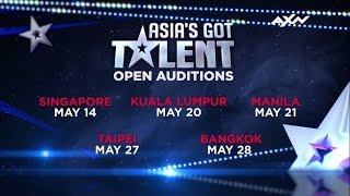 Open Auditions coming to a city near you | Asia