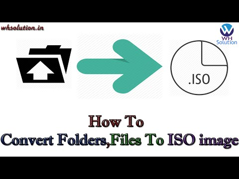 How to Convert folders,files to ISO image.[Hindi / Urdu]
