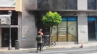 Incendio transformador calle Puerto