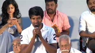Actor Soori Comedy speech Teasing Producer in Gemini Ganesanum Suruli Raajanum Audio Launch