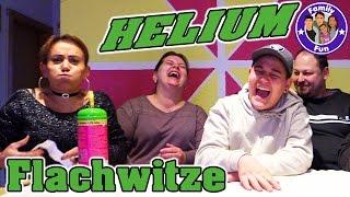 HELIUM Flachwitze Challenge - zum totlachen !!! FAMILY FUN