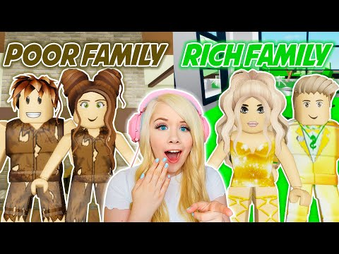 POOR FAMILY VS RICH FAMILY IN BROOKHAVEN ROBLOX BROOKHAVEN RP