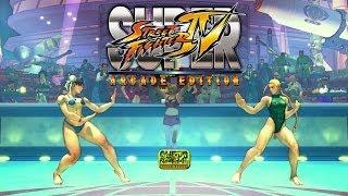 Cammy Vs Chun-Li | Street Fighter IV Bikini Barefoot | Super Street Fighter IV: Arcade Edition