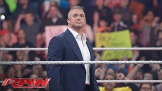 The WWE Universe erupts as Shane McMahon re-emerges on Monday Night Raw: Raw, February 23, 2016