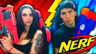 BATALLA EPICA DE NERF !! PATTY DRAGONA VS MAKIMAN !! QUIEN GANARA ?? Makiman