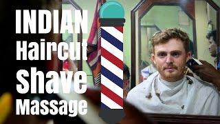 Haircut in India | Indian Barber hair cut, beard shave and head massage in Kolkata