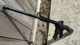 Shooting my Homemade M16 Airsoft Rifle