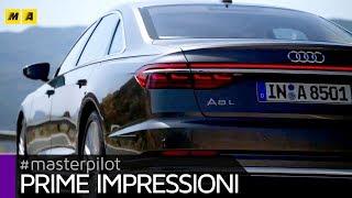 Nuova Audi A8 2018, anche a passo lungo e con tecnologia AI piloted driving level 3 [ENGLISH SUB]