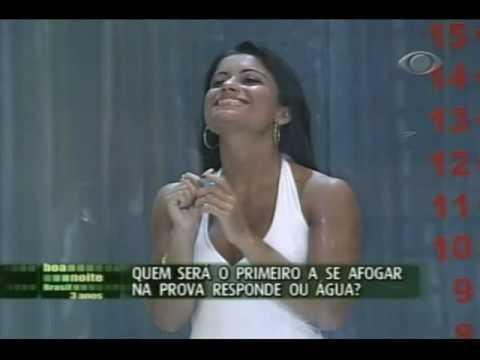 Dani Sperle na Prova do Tubo Responde ou água no Boa Noite Brasil