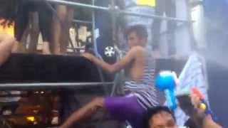 Gay Twerking Dance at Khao San Road-Songkran Party 2014, Bangkok, Thailand