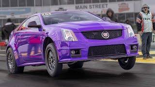 Purple CTS-V Goes Wheels UP! @ TX2K19