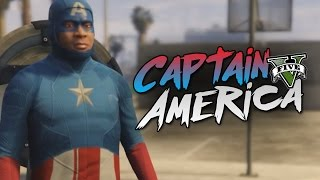 GTA 5 Mod Indonesia - CAPTAIN AMERICA !! - Momen Lucu GTA