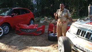 Modified car seize & dismantle by Kerala RTO