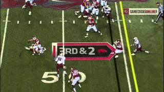 Devin Taylor Interception vs. Arkansas - South Carolina Football 2011