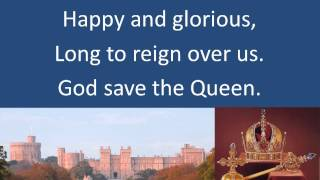 The British National Anthem, God Save the Queen with timed lyrics