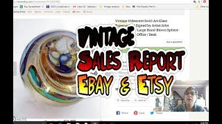 Diggin' with Dirty Girl S7E4: Vintage Sales Report Ebay & Etsy, September 2017 - What's Selling?