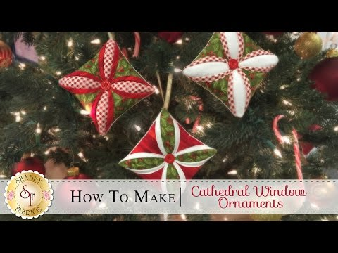 How to Make a Cathedral Window Ornament with Jennifer Bosworth of Shabby Fabrics