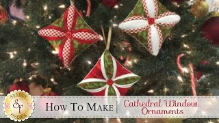 How to Make a Cathedral Window Ornament   a Shabby Fabrics Christmas Sewing Tutorial