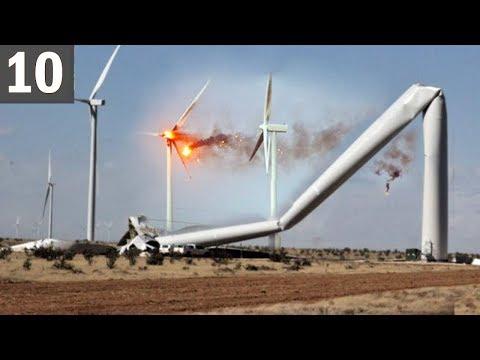 TOO MUCH WIND 10 Wind Turbine Fails