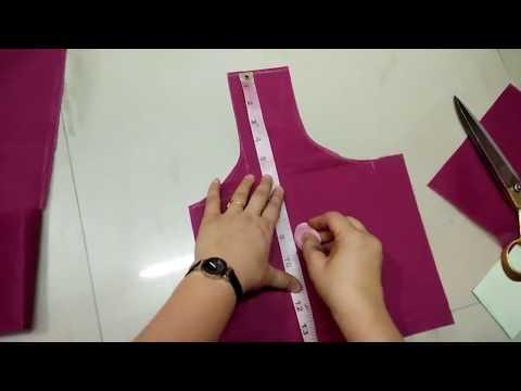 Simple blouse cutting Easy steps in Hindi || सादा बिलाउज की कटिग का आसान तरीका
