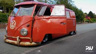 VW Splitty. Air ride suspension,  extremely low!