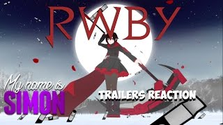 RWBY - All Trailers - Reaction