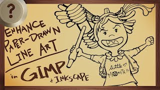 Enhance Paper-Drawn Line Art in GIMP and Inkscape