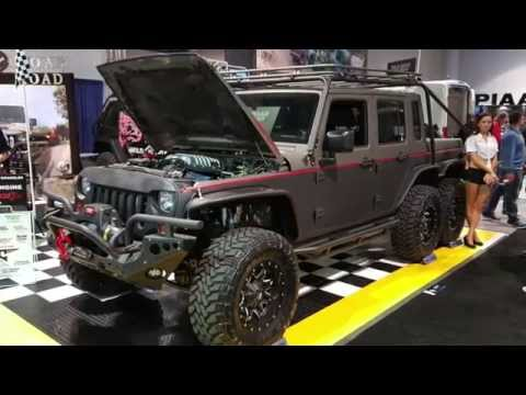 6 wheel drive 750HP Jeep Wrangler :The Hellhog by Wild Boar Offroad