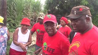 CIC Julius Malemas' visit to a home of an old woman in KwaMashu
