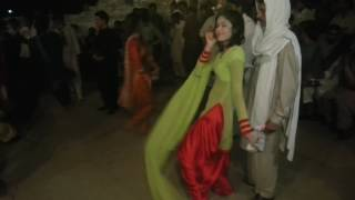 Arzoo local dance in red silky shalwar awesome hot look