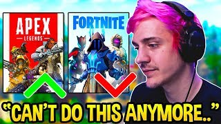 Ninja STRESSED OUT Explaining Why He Likes Fortnite MORE Than Apex Legends!