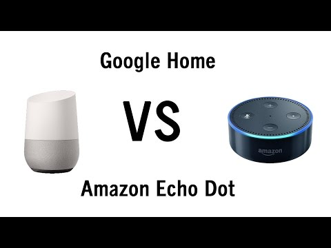 Google Home vs Amazon Echo Dot - Side by Side Comparison