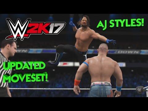 WWE 2K17 - Aj Styles Updated Moveset