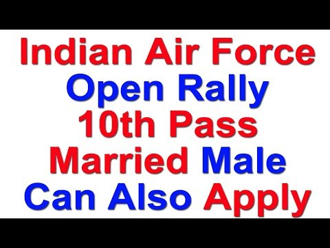 Join Indian Air Force Open Rally for 10th Pass   Group Y (Non Technical ) Airmen