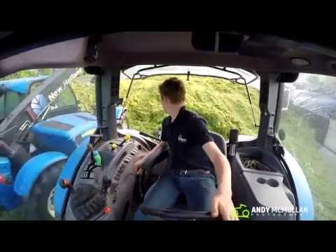 Buckraking Grass New Holland T6010 GoPro HD