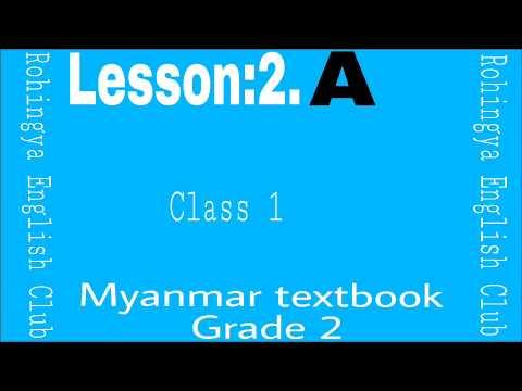 Xxx Mp4 Lesson 2 A Myanmar Textbook Grade 2 Class 1 In Rohingya English Club 3gp Sex