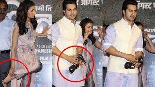 Varun Dhawan holds Alia Bhatt
