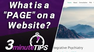 """What is a """"Page"""" on a website? Web Page vs Web Site, Size of Web Pages, and more!"""