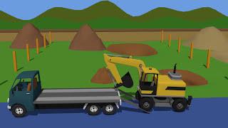 Fairy Tales for Kids 3D part 5 Compilation | Bajki Dla Dzieci - Traktory Koparki i Inne cz.5