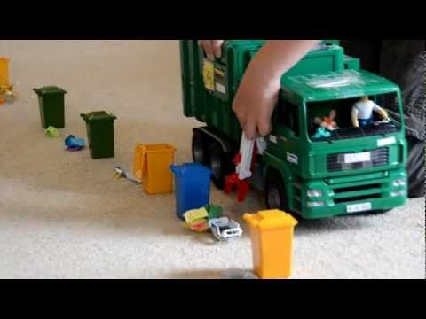 Zach the Garbage Truck Bruder Side & Rear Loader