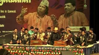 Khwaja Ki Diwani By Nizami Brothers Ghulam Sabir Ghulam Waris Qawwal Live Concert in siri fort Audi.