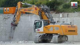 LIEBHERR R 960 demolition, Abbruch Kaufland Backnang, Germany, 04.09.2018.