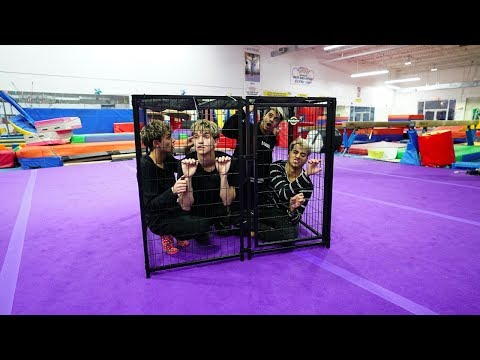 BROTHERS TRY TO ESCAPE GIANT CAGE IN LESS THAN 10 MINUTES