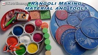 DIY Rangoli Making Tools and Material | How to use | JK Arts 408