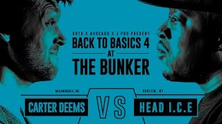KOTD - Rap Battle - Carter Deems vs Head I.C.E. | #B2B4