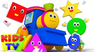 Five Little Shapes | Shapes Song | Nursery Rhymes | Learn Shapes | Baby Songs | Bob The Train