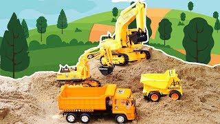 รีวิวรถแม็คโครบัง รถดั้ม รถตักดิน รถของเล่นชุดรถก่อสร้าง Excavator and truck