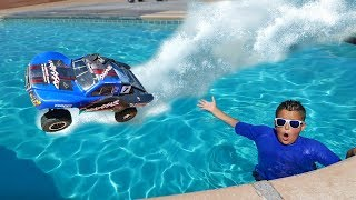 RC Car Driving On Water Challenge!!
